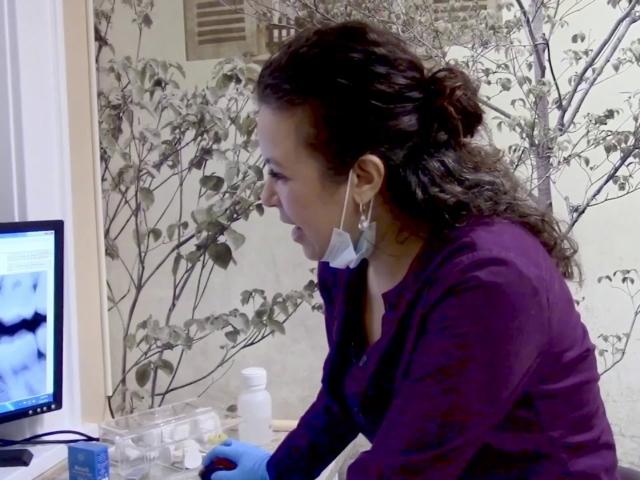 Dr. Mariam Vaziri removes amalgam filling